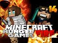 Minecraft hunger games catching fire 14 - i played with a girl lol