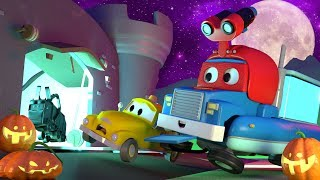 HALLOWEEN SPECIAL ! The Funfair Monster - Carl the Super Truck in Car City | Children Cartoons