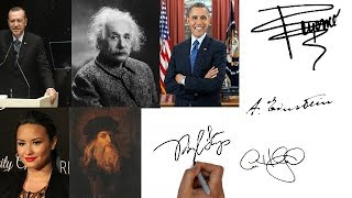 إمضاءات المشاهيرمن علماء،رؤساء دول،عظماء و غيرهم