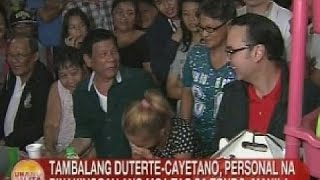 UB: Tambalang Duterte-Cayetano, personal na pinakinggan ang mga tao sa Tondo, Manila