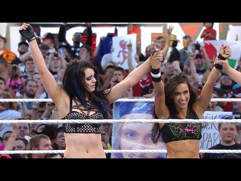 Xxx Mp4 Paige AJ Lee Defeat The Bella Twins On The Grandest Stage Of Them All WrestleMania 31 3gp Sex