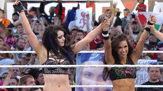 Paige & AJ Lee defeat The Bella Twins on The Grandest Stage of Them All: WrestleMania 31