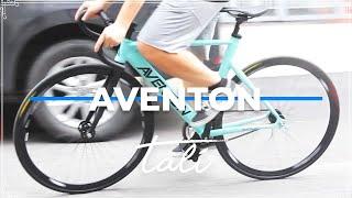 Aventon Mataro Satin Celeste + Full Aventon Push at DAN Fixed Gear