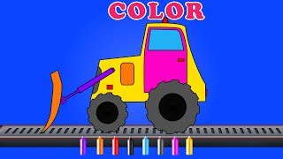 Kids TV Channel | bulldozer | coloring | educational video for children