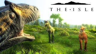 The Isle REALISM - ALLO BATTLES CARNO PACK FOR FOOD, UTAH AMBUSH & ALLO BABY SAVED ( Gameplay )