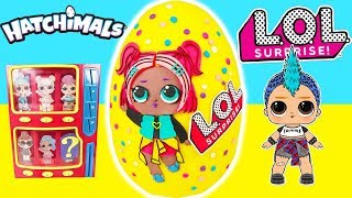 Biggest LOL CONFETTI POP Play Doh Surprise Egg with Custom Easter LOL VRQT in Toy Vending Machine