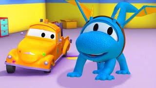 Hector der Drache - Die Lackierwerkstatt von Tom dem Abschleppwagen 🎨  Cartoons für Kinder