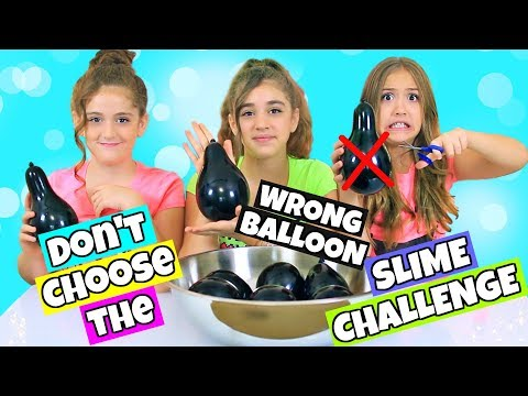 Don't Choose The Wrong Balloon Slime Challenge Part 2!