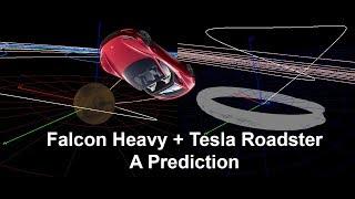Falcon Heavy and the Tesla Roadster Orbits, A Prediction