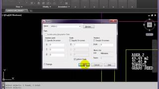 AutoCAD Simple Attributed Blocks and Data Export