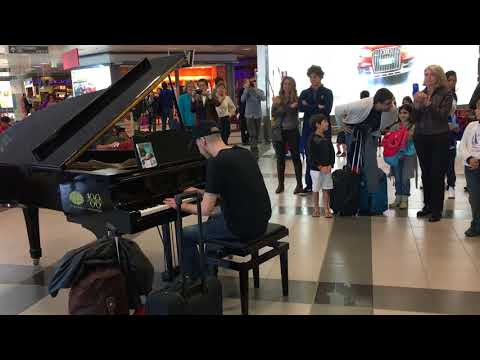 Rock and roll piano Palermo airport