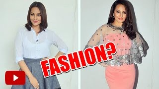 Sonakshi Sinha's  Fashion On Indian Idol Junior is  Making HARD To Concentrate On Singing !