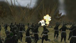 SAMURAI vs NINJAS BATTLE - Total War: SHOGUN 2