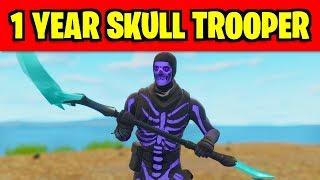 THIS is the NEW SECRET skin in fortnite (1 Year Skull Trooper Anniversary Skin)