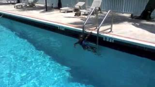 Celina & Amoor Cordoba El, Swims 9 feet. 4 yrs old
