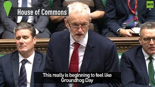 """""""This really is beginning to feel like Groundhog Day"""" Corbyn responds to May"""