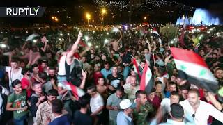 Syrian football fans cheer 2-2 match with Iran in World Cup qualifier
