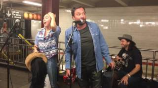 Miley Cyrus and Jimmy Fallon Surprise NYC Subway Performance 06/13/17