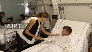 Spain: King and Queen of Spain visit young Barcelona attack victims in hospital