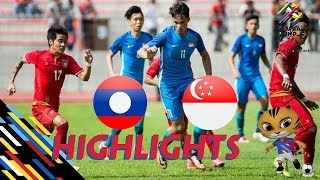 HIGHLIGHT | U22 LÀO vs U22 SINGAPORE | BẢNG A BÓNG ĐÁ NAM SEA GAMES 29