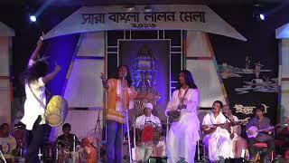 তিন গরভে আছে এক ছেলে//Tin Garve Ache Ek Chele//Singer-Khaibur(BD)//Sanjoy(IND)SARA BANGLA LALON MELA