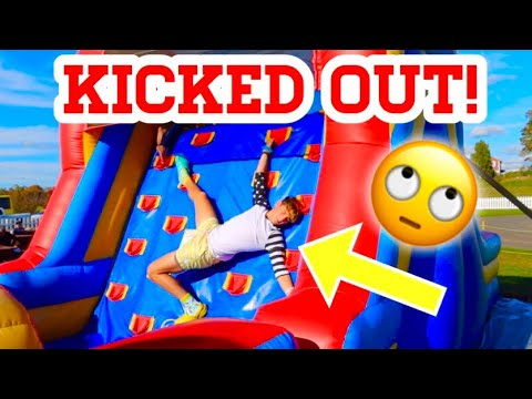 I GOT KICKED OUT FOR THIS BOUNCE HOUSE FLIPS