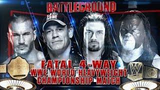 Fatal 4-Way WWE World Heavyweight Championship Match at WWE Battleground