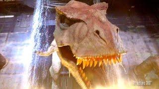 [4K] Jurassic Park The Ride in the Dark - Halloween Horror Nights - Universal Studios Hollywood