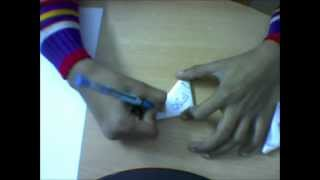 How to make a paper football (flip football)