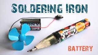 How to make a Portable BATTERY SOLDERING IRON with Just5mins - Easy-to-make - (10sec heat up)