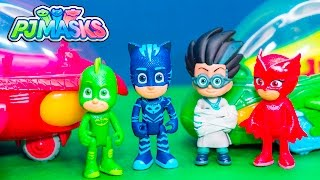 PJ MASKS Disney Gekko Owlette and Catboy Deluxe Vehicleswith Romeo Toys Video