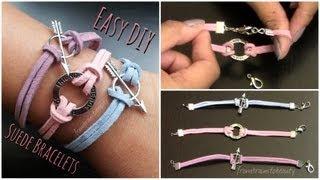 Easy DIY Suede Bracelet | Back to School Tutorial