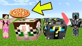 Minecraft: POPULARMMOS VS GAMINGWITHJEN LUCKY BLOCK CHALLENGE! - Modded Mini-Game