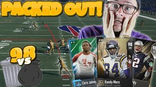 HIGHEST POSSIBLE 98 OVR TEAM vs TRASH SQUAD!! CAN WE WIN?? Madden 18 Packed Out