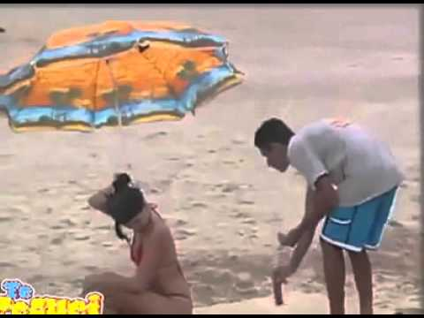 bromas pesadas en la playa