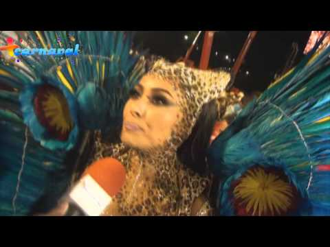Carnaval 2014 Sabrina Sato representa a Deusa da Natureza na Vila Isabel