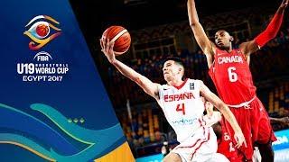 Spain v Canada - Live - FIBA U19 Basketball World Cup 2017