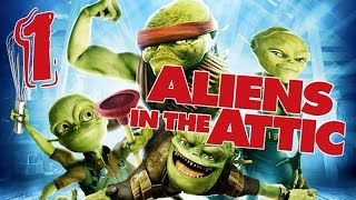 Aliens in the Attic Walkthrough Part 1 (PS2, Wii, PC) Movie Game - Level 01 -