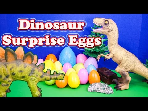 SURPRISE EGGS Dinosaur Surprise Eggs Candy and Toys a Surprise Egg Toys Video