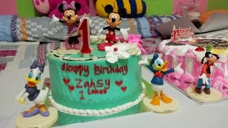 SELAMAT ULANG TAHUN  BABY LUCU ZAHSY KE - 1 | HAPPY BIRTHDAY ZAHSY
