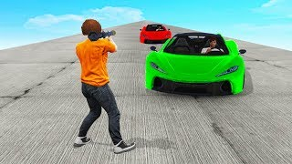 TRY TO DODGE THE 300MPH CARS! (GTA 5 Funny Moments)
