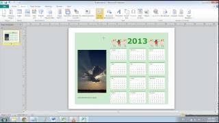 Cara membuat kalender di Microsoft Publisher 2010