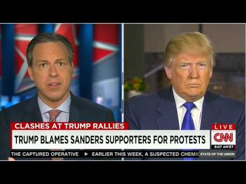 Jake Tapper to Donald Trump Stop inciting violence for the nation