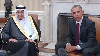 The President Meets with the King of Saudi Arabia