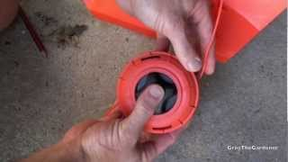 HOW TO REPLACE BUMP FEED WEED WACKER/WHIPPER SNIPPER LINE - Greg The Gardener