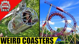 10 WEIRD and Unusual Roller Coasters