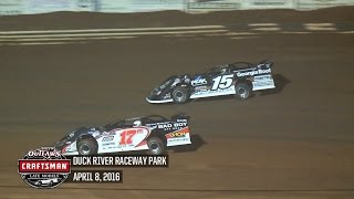 Highlights: World of Outlaws Craftsman Late Models Duck River Raceway Park April 8th, 2016