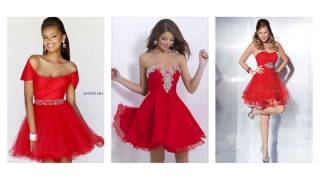 Top 100 Red party dresses,  sexy red dresses for women