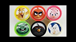 ANGRY BIRDS Movie Play-Doh Surprise Lids with Red, Stella & Pig