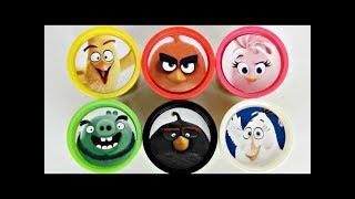 ANGRY BIRDS Movie Playdoh Surprises with Red, Chuck, Bomb, Leonard, Stella, Pig, Shopkins / TUYC
